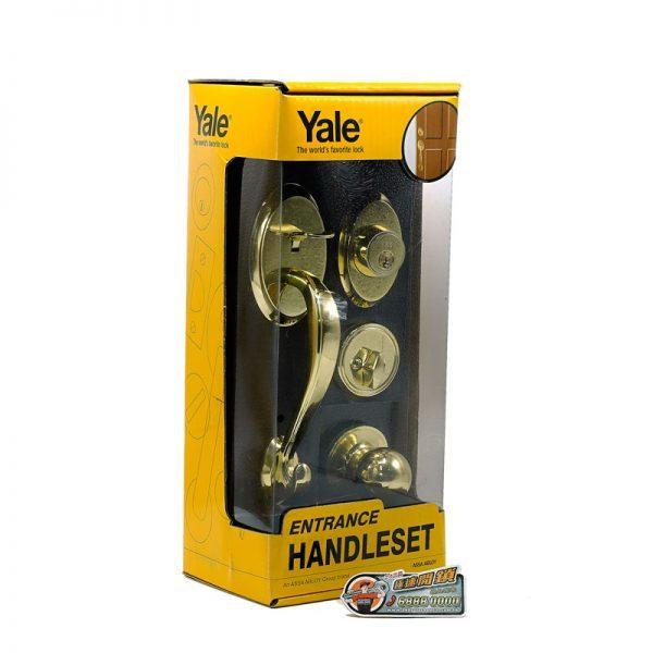YALE-套裝大門鎖-金色-